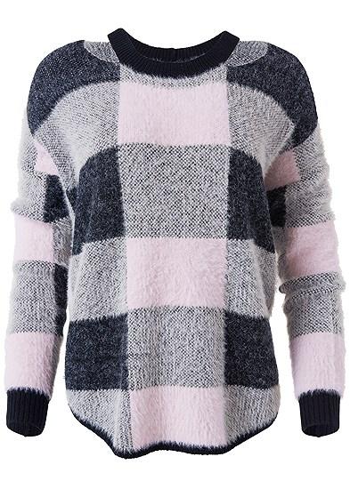 Plus Size Cozy Plaid Sweater