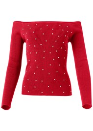 Alternate View Rhinestone Studded Sweater
