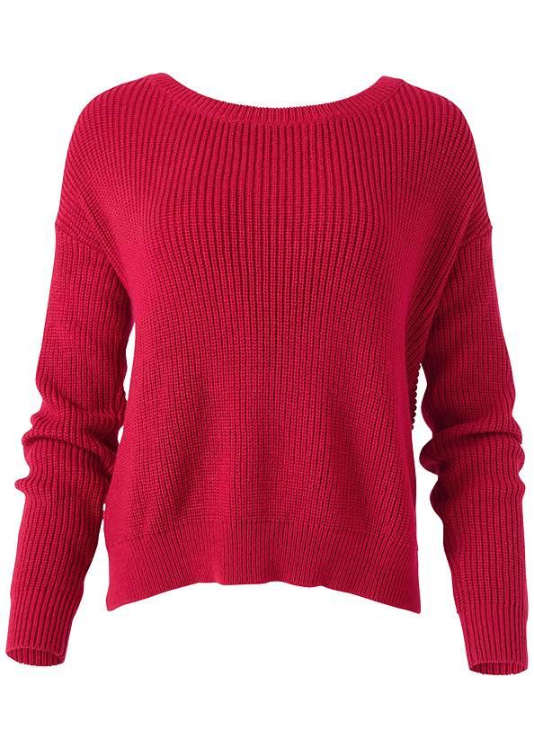 Alternate View Pearl Twist Back Sweater