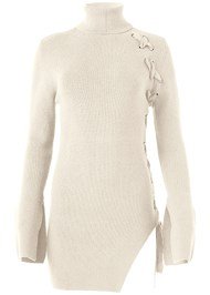 Alternate View Long Lace Up Sweater