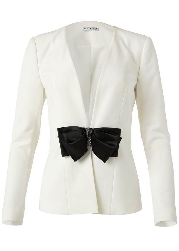 Ghost with background  view Bow Detail Blazer