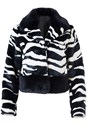 Alternate View Faux Fur Zebra Print Coat