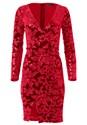 Alternate View Sequin Velvet Detail Dress