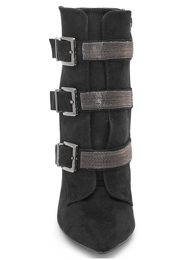 Front View Buckle Detail Booties
