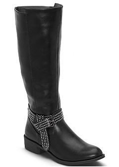 embellished flat boots