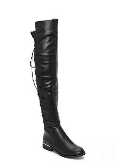 lace up back detail boot