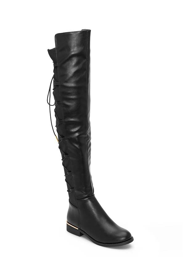 Lace Up Back Detail Boots
