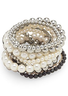pearl detail bracelet set
