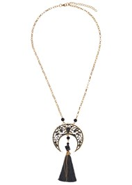 Alternate View Long Medallion Necklace
