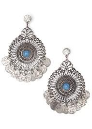 Flatshot  view Medallion Earrings