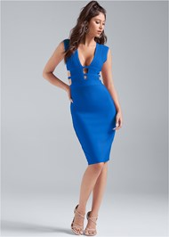Full front view Bandage Cut Out Dress