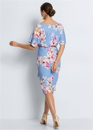 Alternate View Floral Print Midi Dress