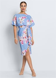 Full  view Floral Print Midi Dress