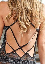 Detail back view Strappy Back Lace Chemise