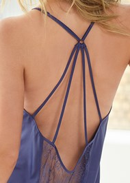 Detail back view Satin Lace Chemise