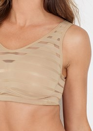 Detail front view Mesh Inset Bra