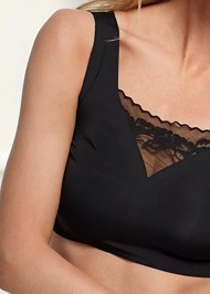 Detail front view Comfort Bra With Lace