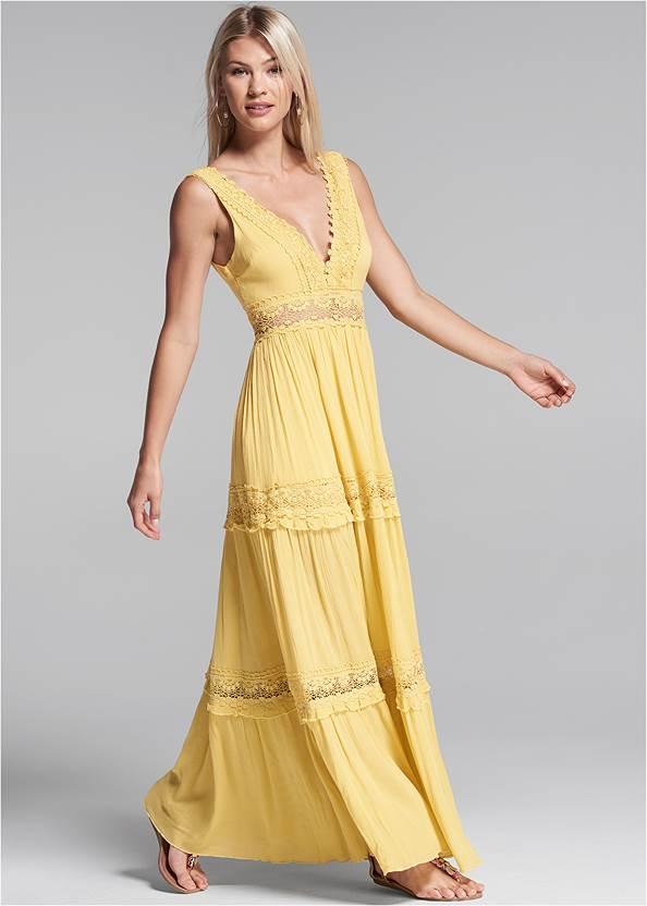 Alternate View Tiered Maxi Dress