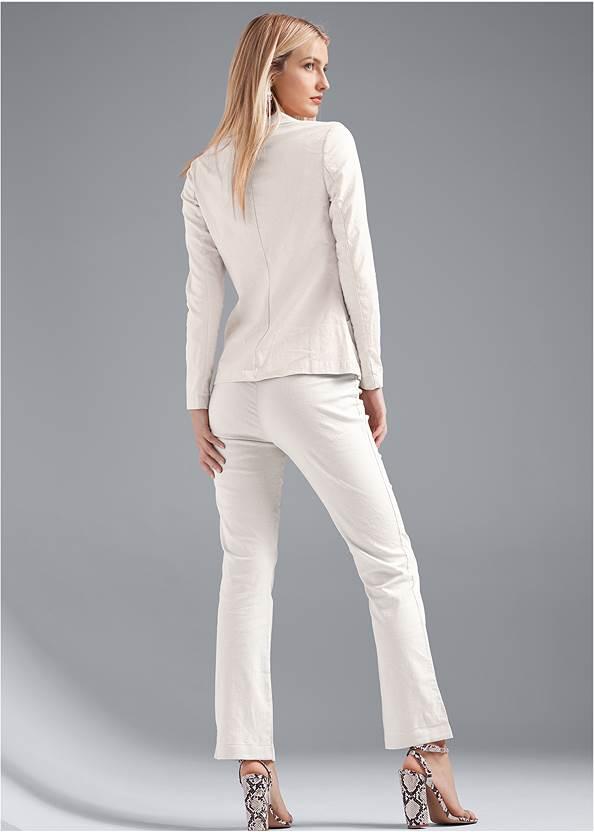 Full back view Linen Suit Set