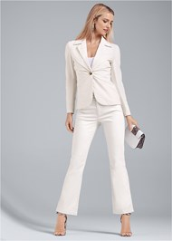 Full front view Linen Suit Set