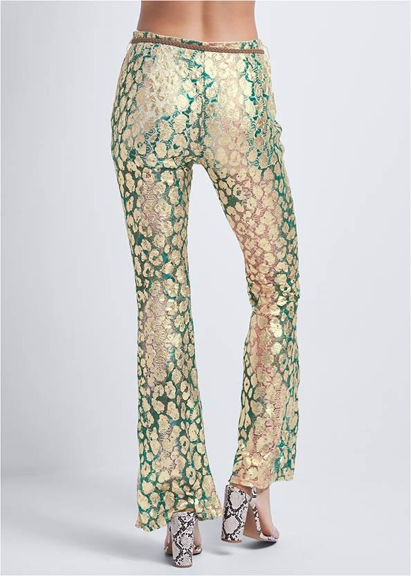 Waist down back view Metallic Lace Pants