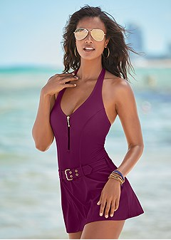 slimming swim dress