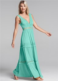 Alternate View Tiered Maxi Dress