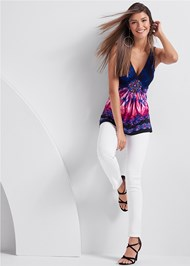 Full front view Embellished Tie Dye Top