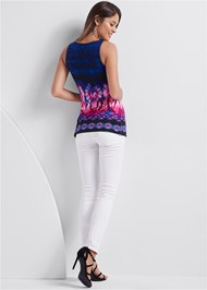 Full back view Embellished Tie Dye Top