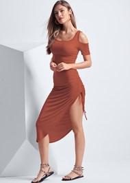 Front View Asymmetrical Hem Dress