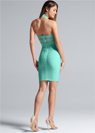 Alternate View Mock Neck Bandage Dress