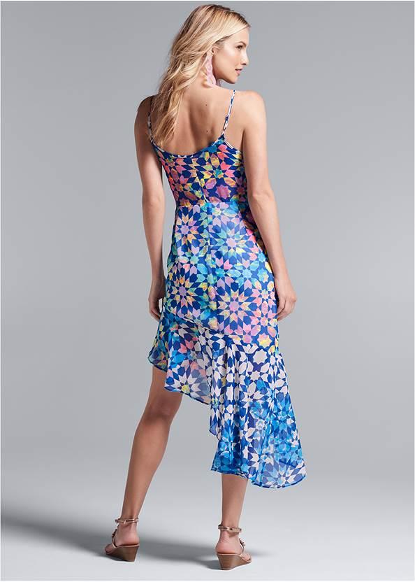 Full back view Tile Print Dress