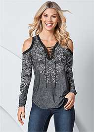 Front View Graphic Print Top