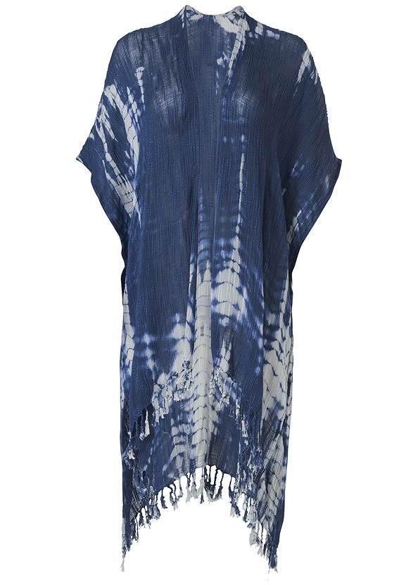 Ghost  view Indigo Tie Dye Kimono
