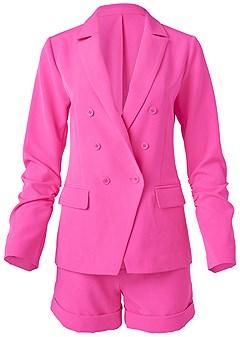 plus size short suit set