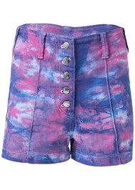 Ghost  view Tie Dye Jean Shorts