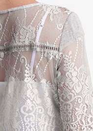 Alternate View Sheer Lace Detail Top