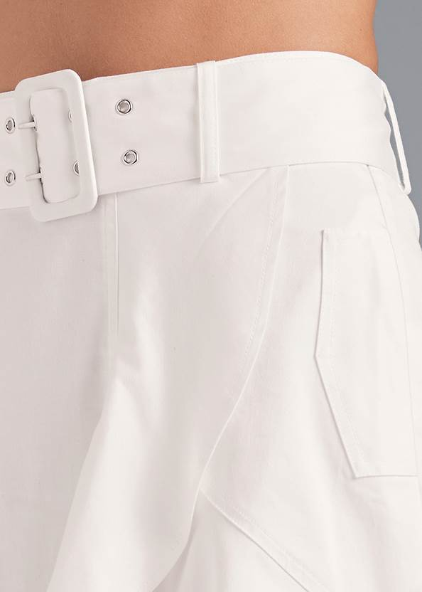 Alternate View Ruffle Hem Midi Skirt