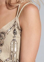 Alternate View Embellished Linen Top