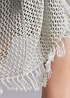 Alternate View Open Knit Fringe Duster