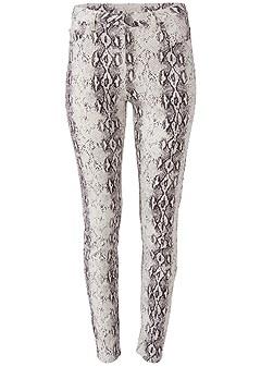 plus size python print skinny jeans