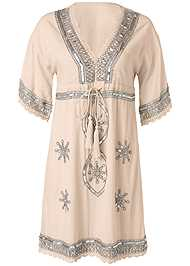 Alternate View Embellished Linen Dress