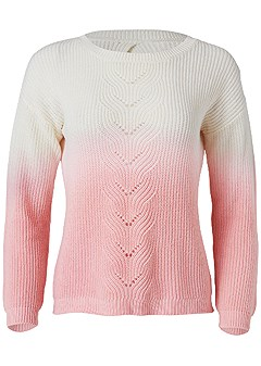 plus size pink ombre sweater