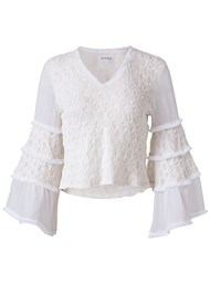 Alternate View Smocked Bell Sleeve Top