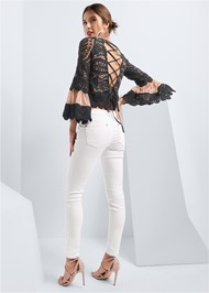 Full back view Crochet Lace Up Top
