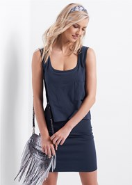 Cropped front view Casual Tank Dress