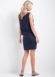 Full back view Casual Tank Dress