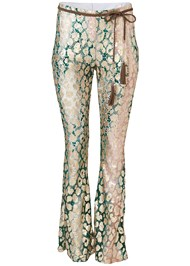 Ghost  view Metallic Lace Pants