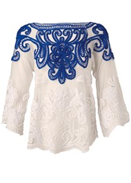 Ghost  view Embroidered Top