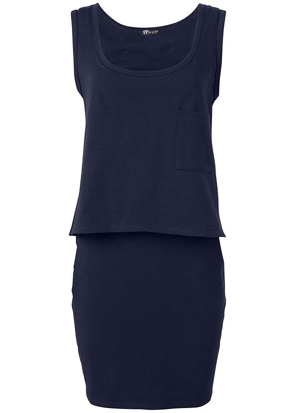 Ghost  view Casual Tank Dress
